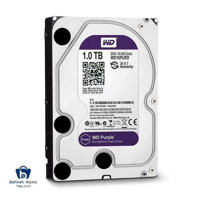 مشخصات ، قیمت و خرید هارد اینترنال وسترن دیجیتال 1TB Purple