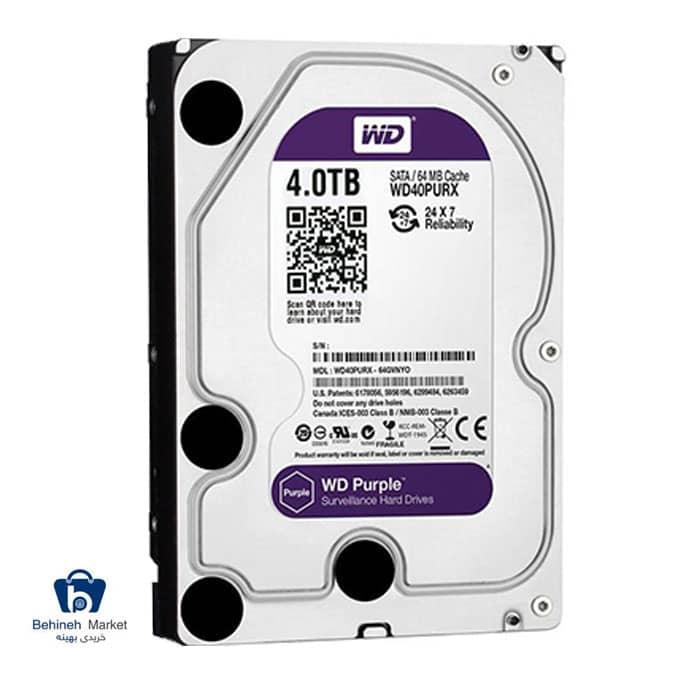 هارد اینترنال وسترن دیجیتال 4TB Purple