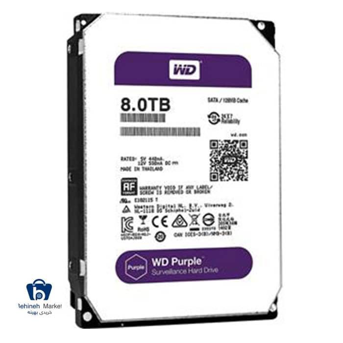 مشخصات،قیمت و خرید هارد اینترنال وسترن دیجیتال 8TB Purple