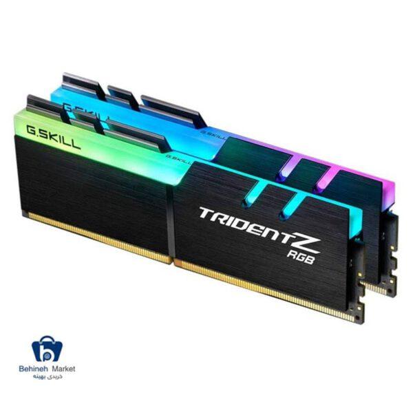 مشخصات، خرید و قیمت رم دسکتاپ DDR4 دو کاناله 3600 مگاهرتز CL18 جی اسکیل سری TRIDENT Z RGB ظرفیت 32 گیگابایت بسته دو عددی