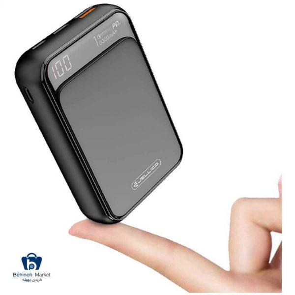 مشخصات، قیمت و خرید پاور بانک جلیکو RM-130 ظرفیت 10000 میلیآمپر ساعت