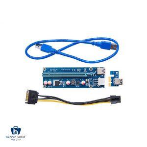 مشخصات، قیمت و خرید رایزر گرافیک تبدیل PCI EXPRESS X1 به X16 مدل 009s