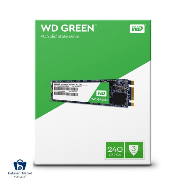 مشخصات، قیمت و خرید حافظه SSD وسترن دیجیتال مدل GREEN WDS240G1G0B ظرفیت 240 گیگابایت