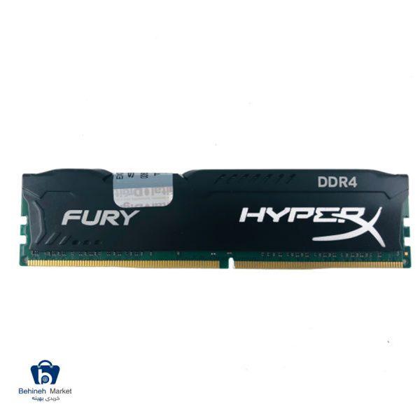 مشخصات، قیمت و خرید رم دسکتاپ DDR4 تک کاناله 2400 مگاهرتز CL15 کینگستون مدل HyperX Fury ظرفیت 16 گیگابایت