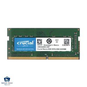 مشخصات، قیمت و خرید رم لپ تاپ DDR4 تک کاناله 2666 مگاهرتز CL19 کروشیال ظرفیت 8 گیگابایت