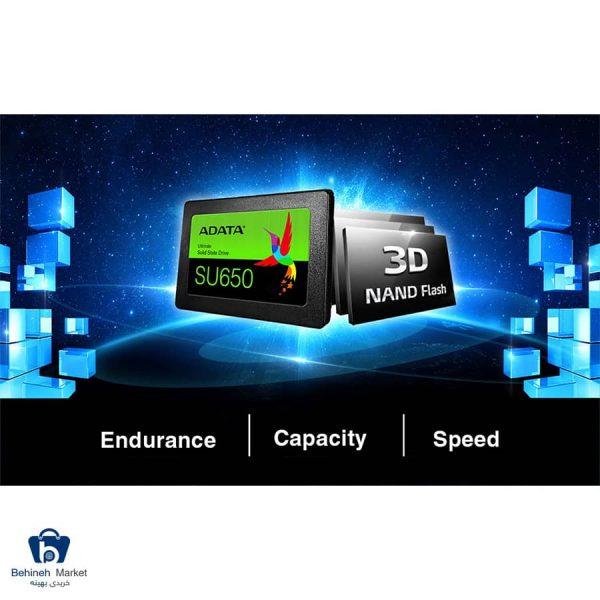 مشخصات، قیمت و خرید اس اس دی ای دیتا مدل SU650 ظرفیت 240 گیگابایت
