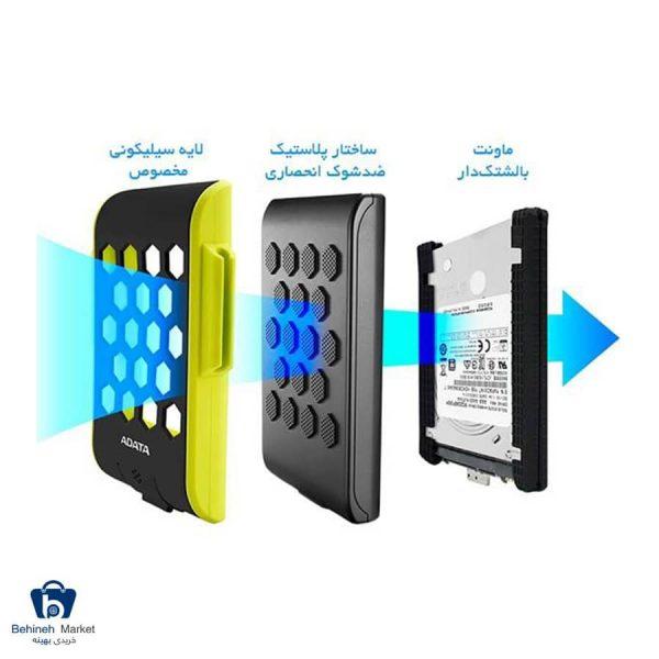 مشخصات، قیمت و خرید هارد اکسترنال ای دیتا مدل HD720 ظرفیت 1 ترابایت
