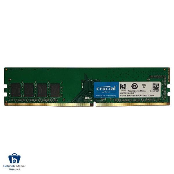 رم دسکتاپ کروشیال DDR4 تک کاناله 2400 مگاهرتز CL17 مدل Basics ظرفیت 8GB