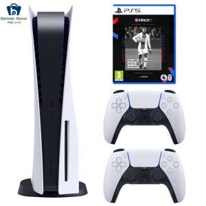 مشخصات، قیمت و خرید مجموعه کنسول بازی سونی مدل PlayStation 5 Drive ظرفیت 825 گیگابایت به همراه بازی فیفاPS5 21
