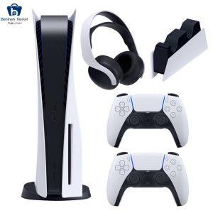 مشخصات، قیمت و خرید مجموعه کنسول بازی سونی مدل PlayStation 5 Drive ظرفیت 825 گیگابایت به همراه هدست و پایه شارژر